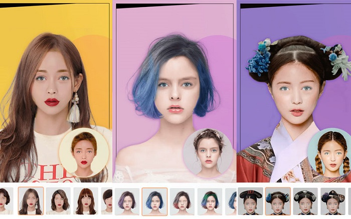 ứng dụng Hairstyle Tryon